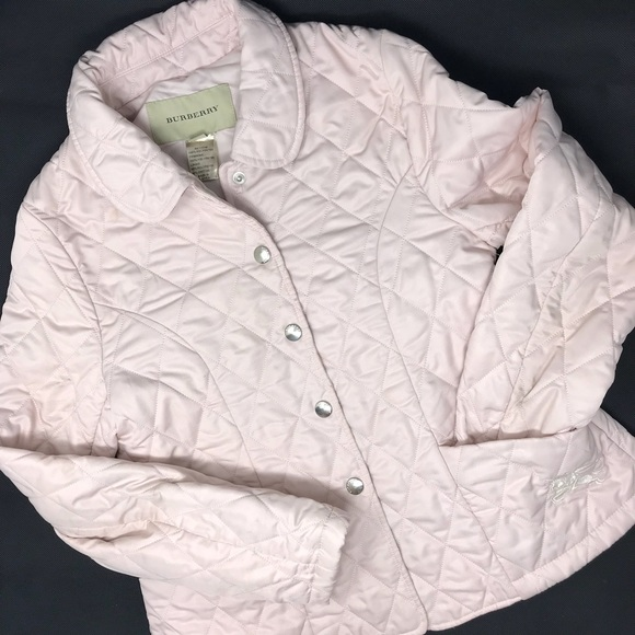 6edcbea87 Burberry Jackets & Coats | Colin Quilted Light Pink Jacket Girls ...